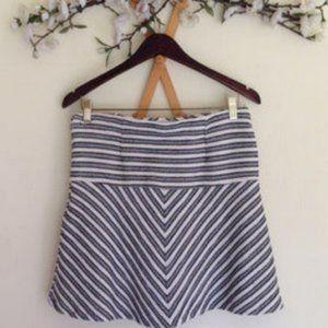 LOFT Flare Stripe Skirt